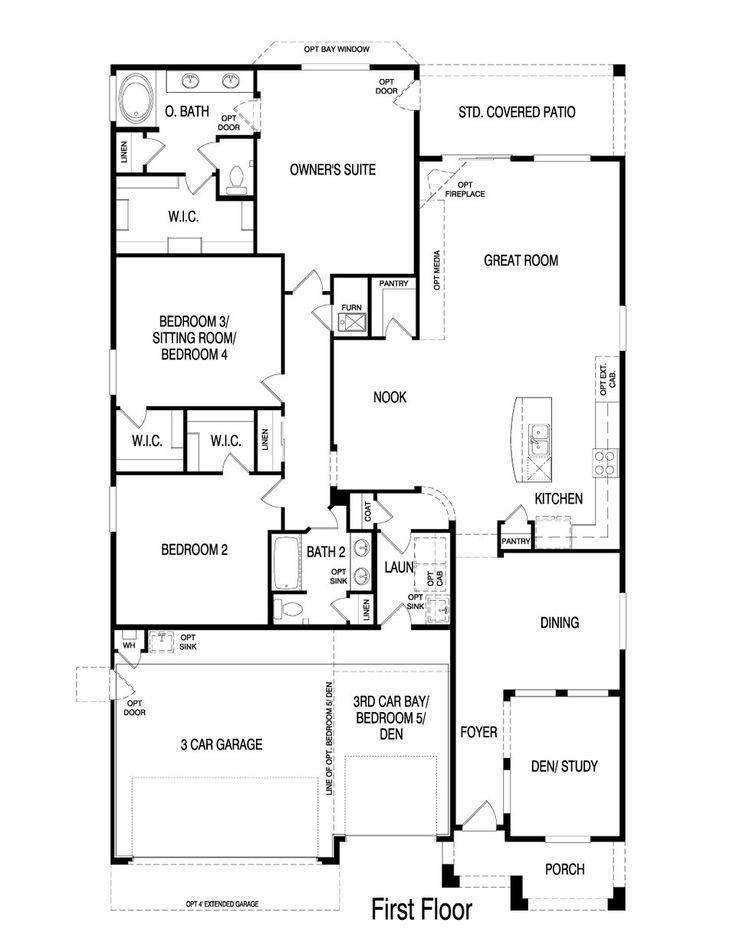 32 best pulte homes floor plans images on pinterest | floor plans