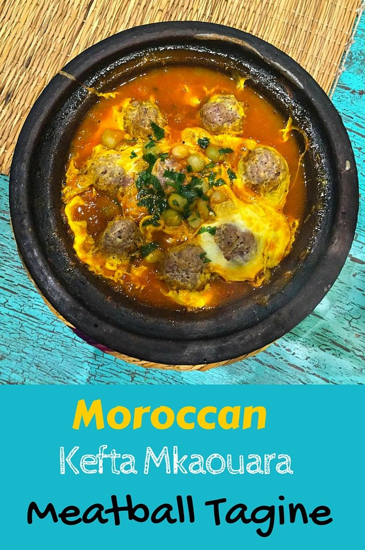 Moroccan Kefta Meatball Tagine -  slow cooked with tomatoes and egg. Moroccan comfort food at its finest! Great brunch alternative or bring something new to the dinner table.