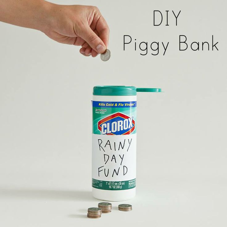 1000 images about clorox crafts on pinterest for Diy piggy bank