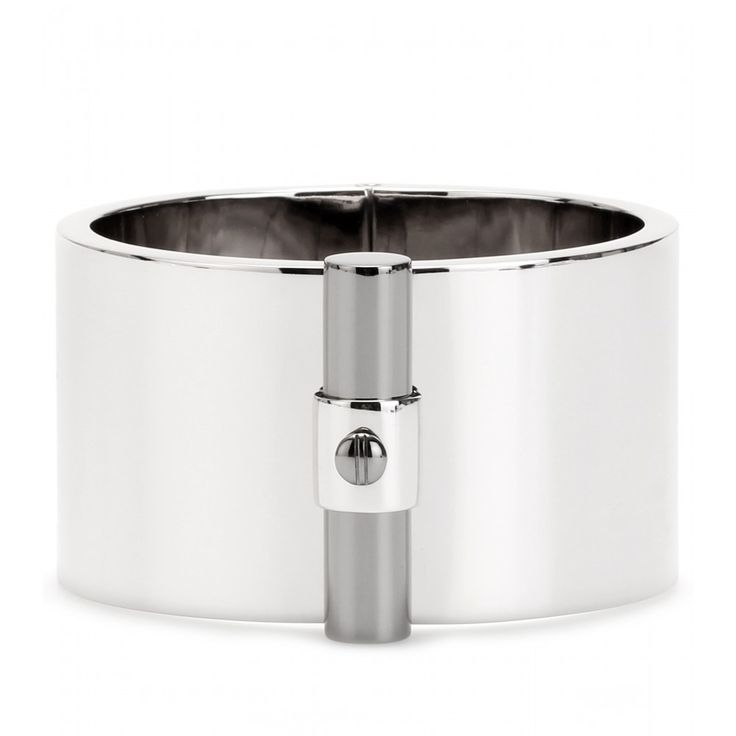 T BAR OVAL STERLING SILVER CUFF BRACELET seen @ www.mytheresa.com