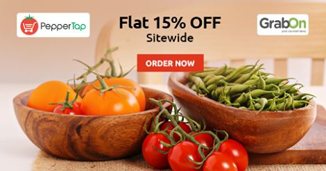 Exclusive #Discount On Your #Grocery Shopping. #Peppertap Offers Flat 15% OFF. http://www.grabon.in/peppertap-coupons/ #SaveOnGrabOn