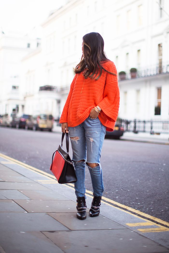 Orange Zara Sweater