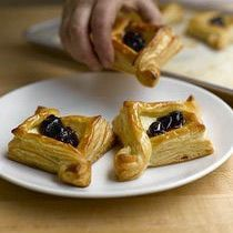 Cherry-Cheese Baskets Made with Blitz Puff Pastry