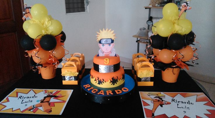 Naruto Birthday table