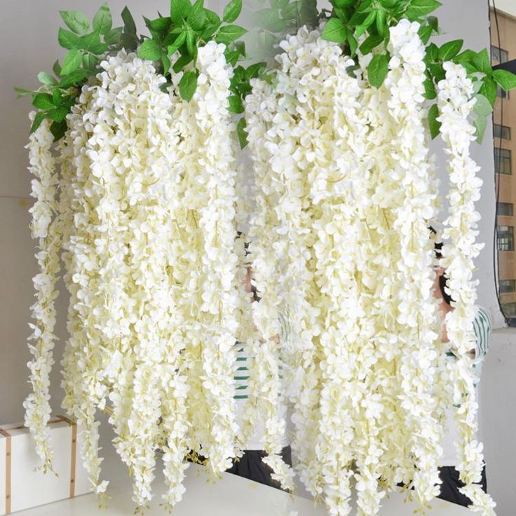$6 one piece   Silk Gorgeous Wisteria Flower Rattan 1.6m/63 Inches Fake Flower Vines Garlands For Wedding Party Centerpieces Artificial Decorative Flowers From Xiaorong2010, $13.24 | Dhgate.Com