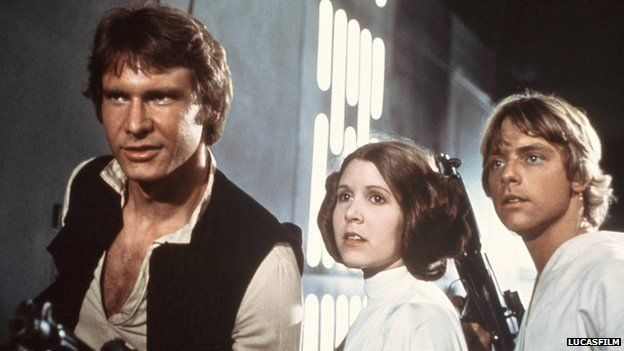 Harrison Ford, Carrie Fisher and Mark Hamill reunite for latest film