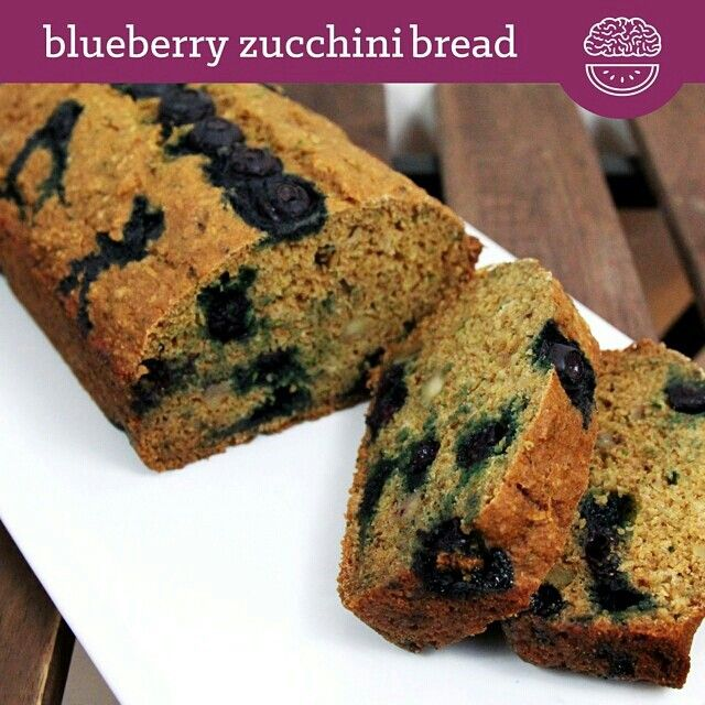 DOUBLE TAP FOR BLUEBERRIES! BREAKFAST BREAD! ZUCCHINI! TAG A BREAKFAST BREAD LOVER! INGREDIENTS 3/4 cup oat flour 3/4 cup whole wheat pastry flour 1/2 cup shredded zucchini 1/2 cup unsweetened applesauce 1/3 cup egg whites 2 Tbsp honey 1-2 Tbsp stevia (optional for additional sweetness) 1 tsp vanilla 1 tsp baking soda 1 tsp baking powder 1 tsp cinnamon 1/2 tsp nutmeg 1/4 tsp salt 2/3 cup blueberries 2-3 Tbsp walnuts (optional)  PROCEDURE Preheat oven to 350F. Combine all ingredients in a…