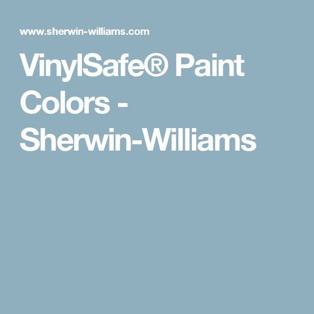VinylSafe® Paint Colors - Sherwin-Williams