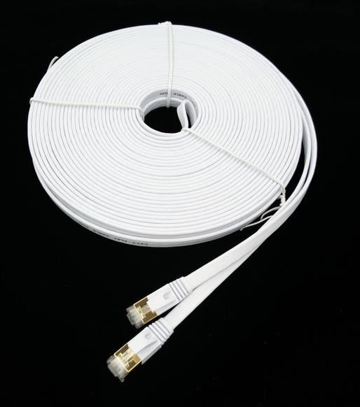 parasta ideaa cable ethernet m iss atilde curren convertisseur 30m cat7 rj45 patch flat ethernet lan network cable for router switch gold plated