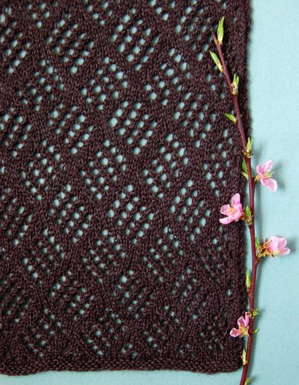 Checkerboard Lace Scarf - the purl bee