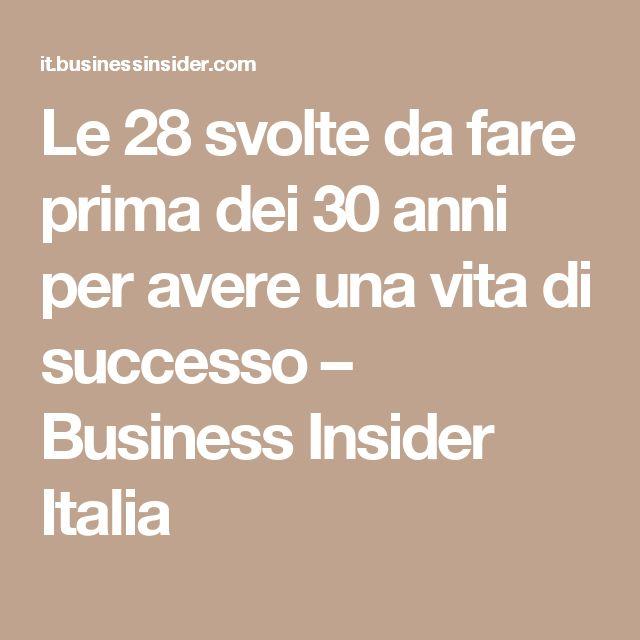 Le 28 svolte da fare prima dei 30 anni per avere una vita di successo – Business Insider Italia