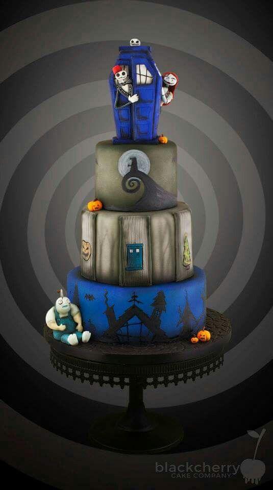 Nightmare Before Christmas vs Doctor Who cake