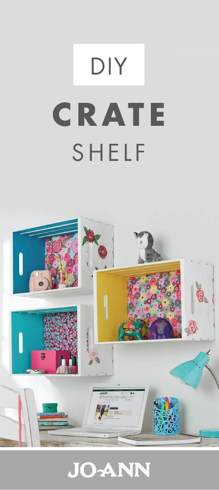 With a pop of colored paint and patterned fabric these wall organizers are decorative as well as practical