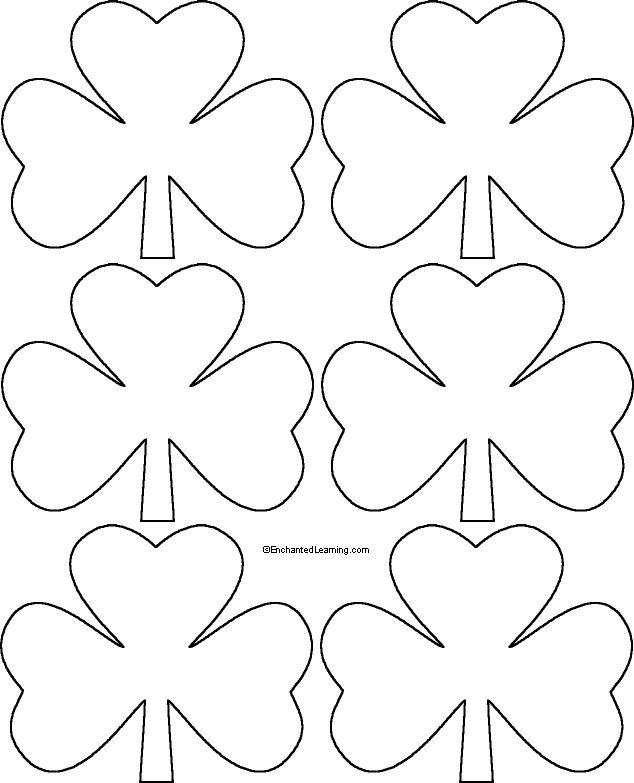 248 best St Patricku0027s day images on Pinterest DIY, Directed - shamrock template