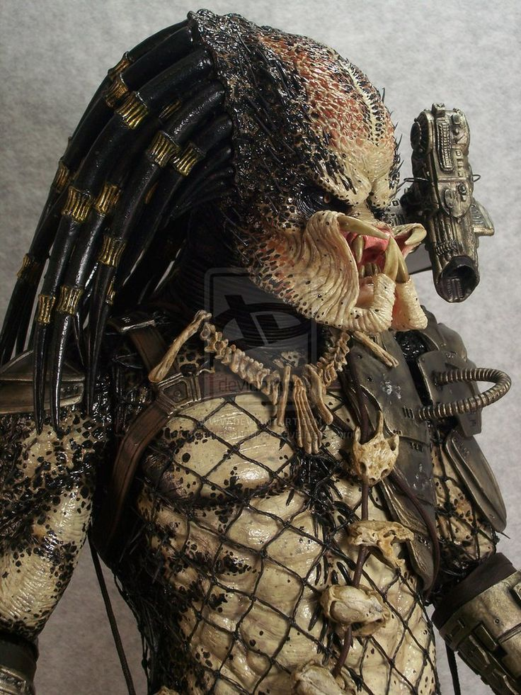 close up - repainted Neca 19 inch Predator by mangrasshopper on DeviantArt