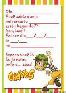 Kit Festa do Chaves Para Imprimir