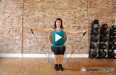VIDEO: 20-Minute Resistance Band Workout! This short routine tones every muscle from head to toe. | via @SparkPeople #exercise #fitness