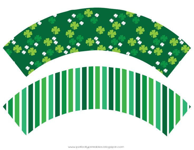 Cupcake wrappers! Free St. Patrick's Day printables on Pretty My Party http://www.prettymyparty.com/st-patricks-day-printables/ #freeprintables #printables #stpatricksdayprintables
