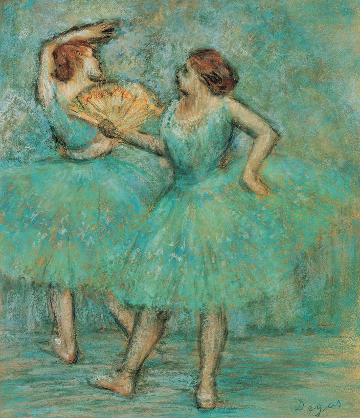 Edgar Degas (1834-1917, France) - Two Dancers, ca. 1905. Pastel
