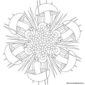 Schnecken-Mandala