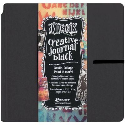 "Delusions 8x8"" Black Art Journal"