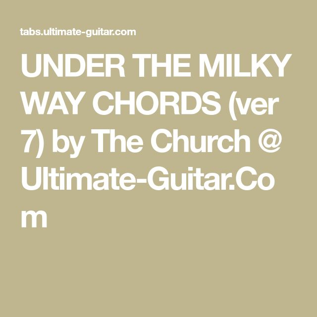 Guitar chords under the