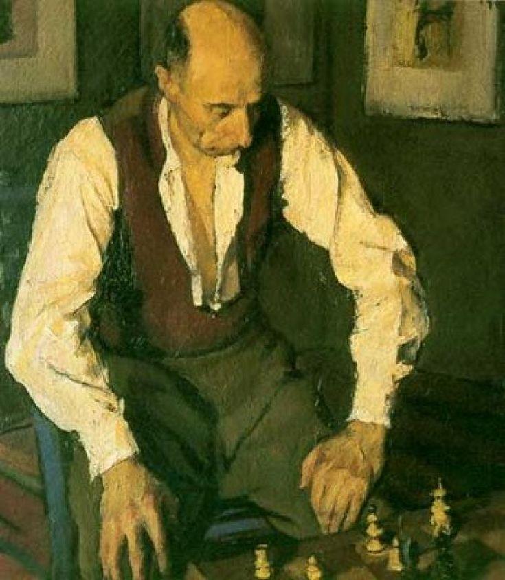 Корнелиу Баба -  The Chess Player  (1948) - Открыть в полный размер