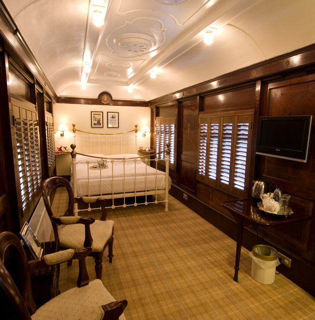 Stay in an old train carriage in Sussex at the 4* Old Railway Station.