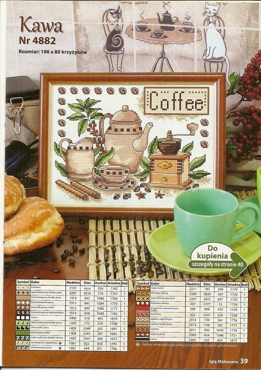 Koffie: momentje om lekker even helemaal bij jezelf te komen *Coffee: Relaxing Me-time Moment ~Borduurpatroon *Cross stitch pattern 1/2~