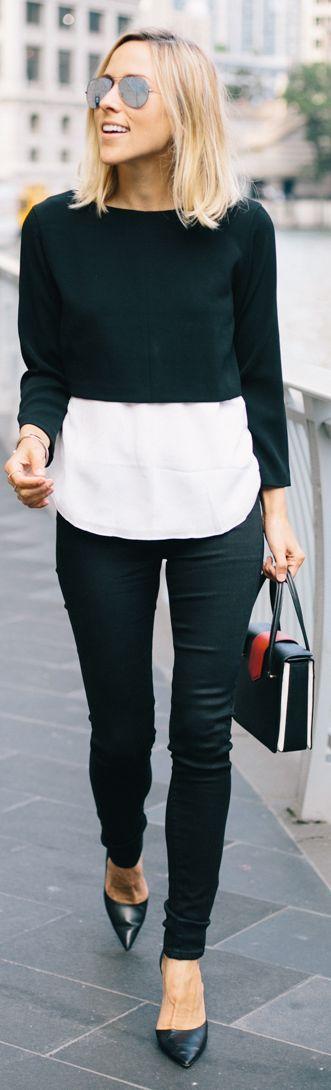 Cropped + blouse hem