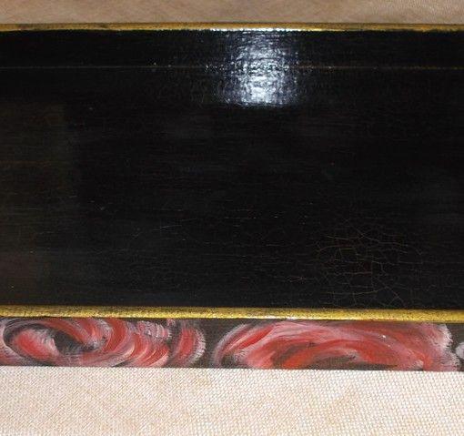 δίσκος ξύλινος ζωγραφιστος 26Χ5Χ35 κρακελέ