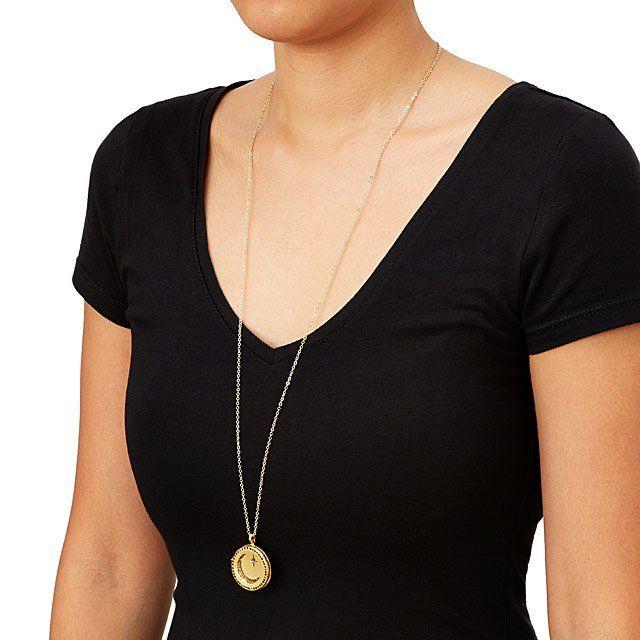 Moon Locket | Handmade Brass Necklace | UncommonGoods