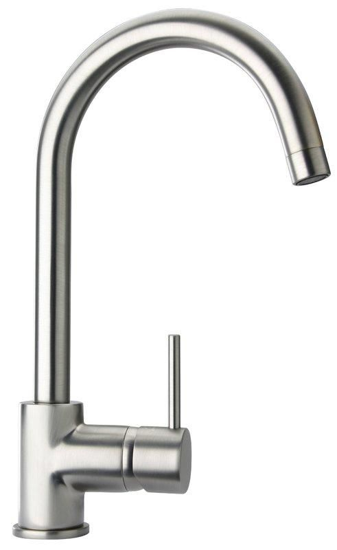 Latoscana Elba Single Handle Pull Down Kitchen Faucet Stream Only Brushed Nickel 78pw591