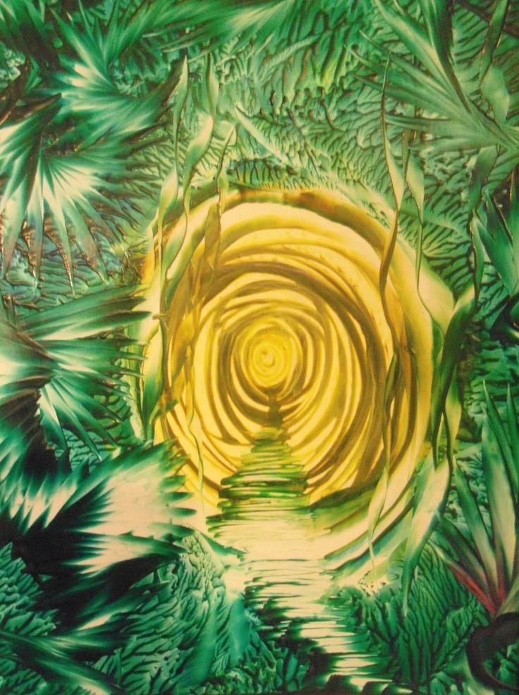 original encaustic Patty Chapman  Waxdreams  11x14