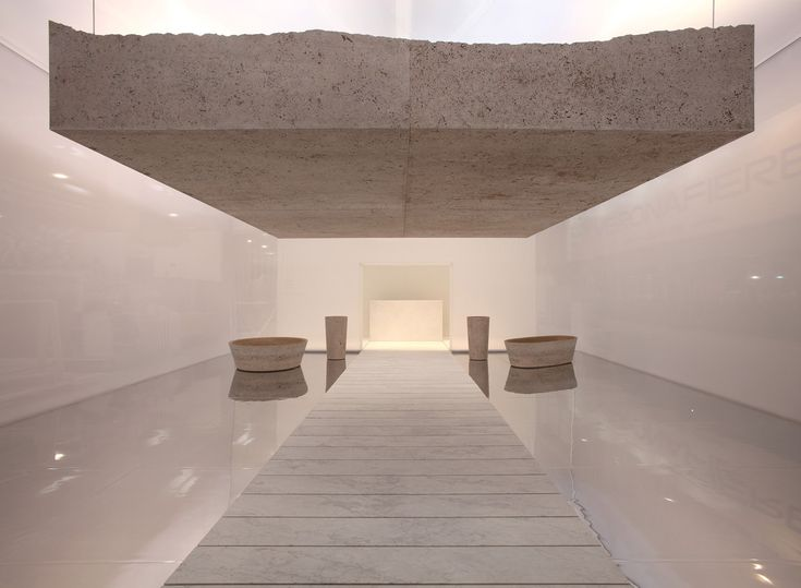 The Pibamarmi Pavilion at 2013 Marmomacc designed by Alberto Campo Baeza