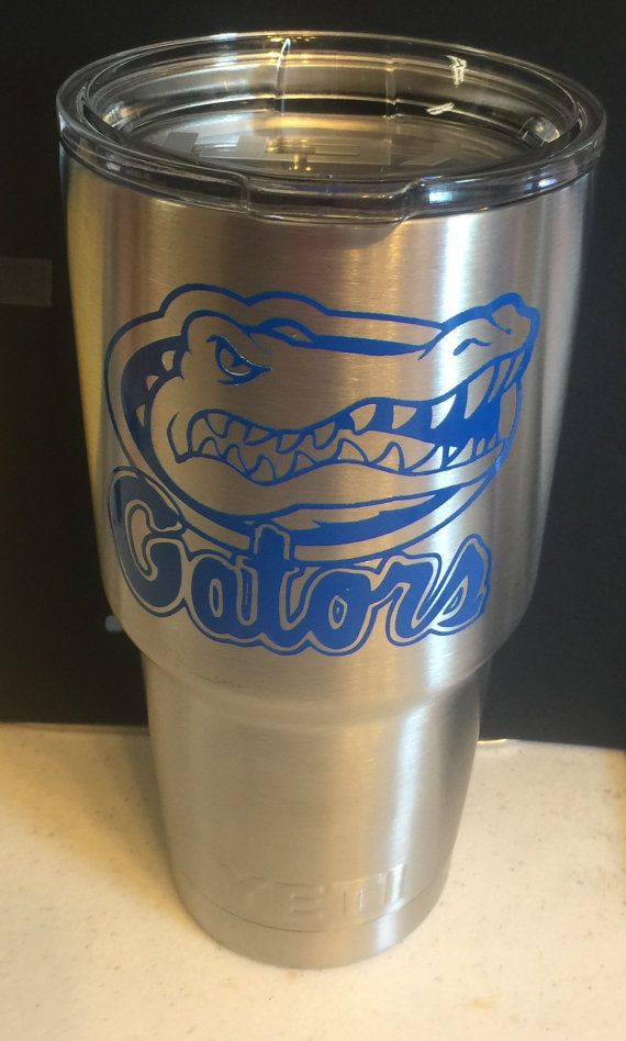 Florida Gators Inspired DECAL for Yeti Tumbler by LeslisDesigns