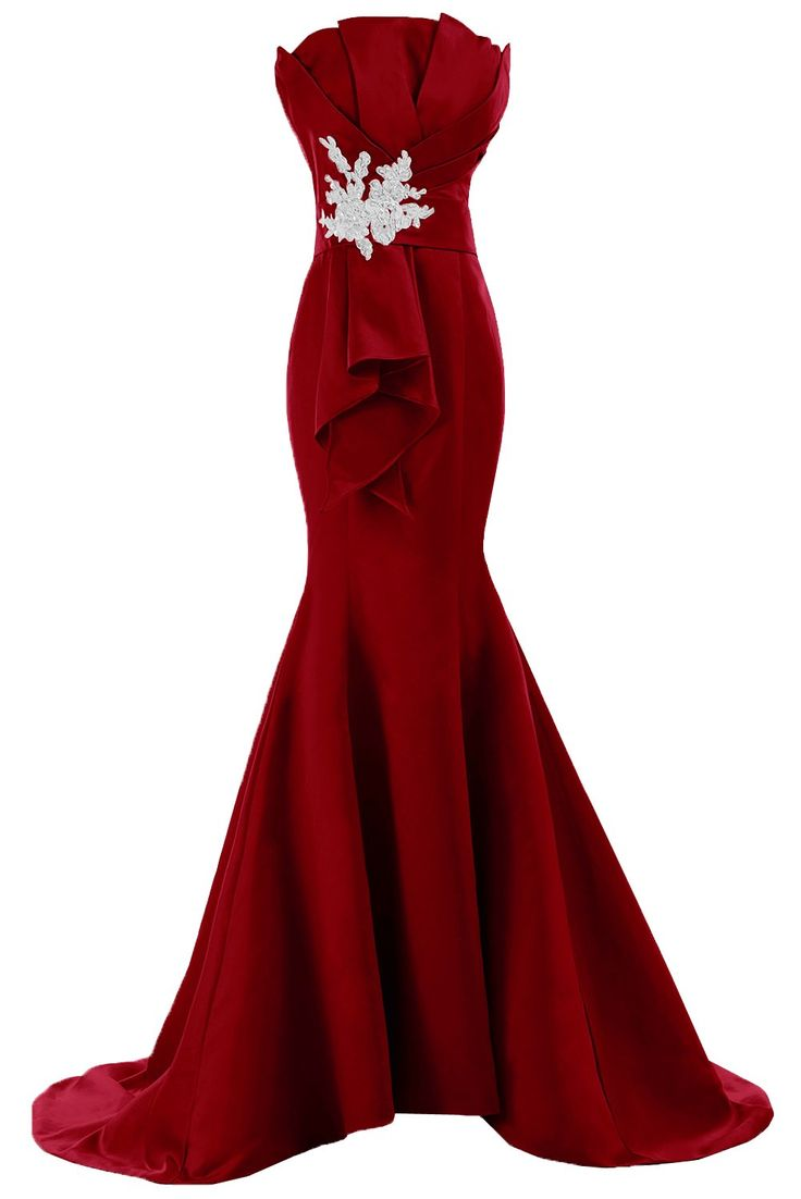 Sunvary Fancy Sheath Mermaid Satin Evening Prom Gowns for Bridesmaid 2015 at Amazon Women's Clothing store: