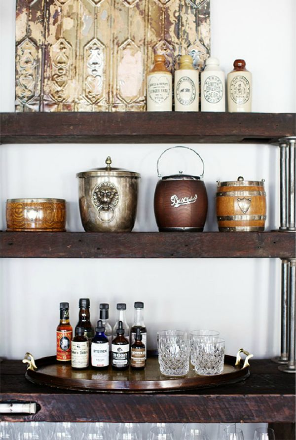 Bookcase Bar Cart   Fuji Files for Camille Styles