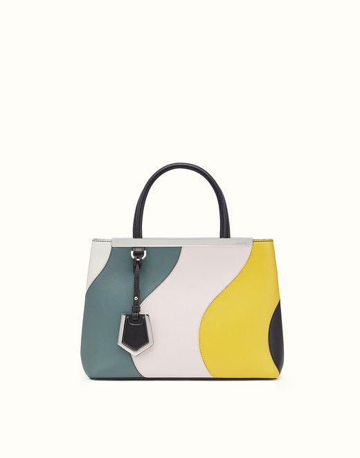 PETITE 2JOURS - Multicoloured leather shopper bag. Discover the new collections on Fendi official website. Ref: 8BH253SVJF07HR