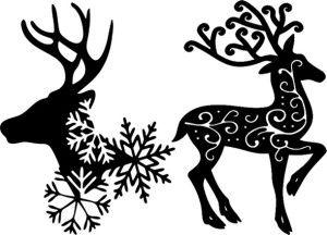 Новогодний трафарет Олени Санта-Клауса
