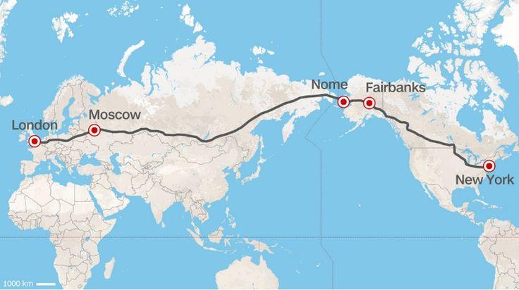 La Russie envisage de construire une route reliant Londres à New York en passant par Moscou et l'Alaska | Slate.fr