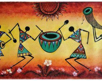Love Warli Art Original Warli Art Painting Series 3 1 By Our Shops Own Artisan Drum