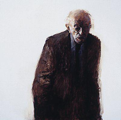 Dinie Boogaert, Silent Man IV, oil on canvas 1998, 100x100cm