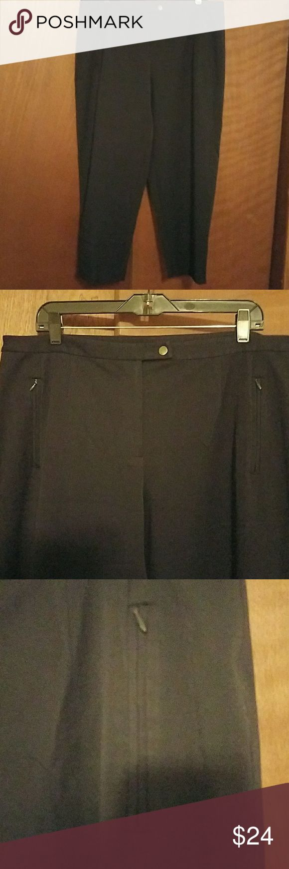 Talbots petite dress slacks Beautiful pair of Talbot's Petite dress slacks they've got a little bit of stretch to them. Zip-up pockets in the front side Very professional-looking. They look like brand-new I'm not sure they've ever been worn! Talbots women petites Pants Trousers