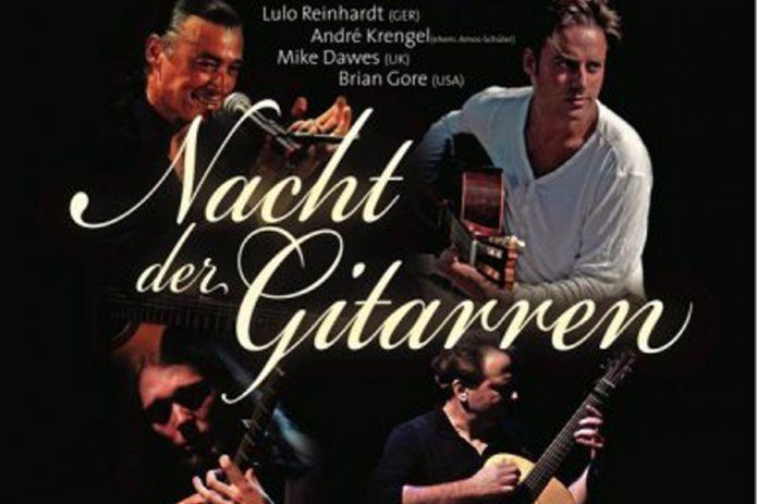 """Am 19. April findet in Steinegg ein Konzert der Superlative statt. """"Nacht der Gitarren""""; dabei handelt es sich um die Europatournee von 4 Gitarristen..."""