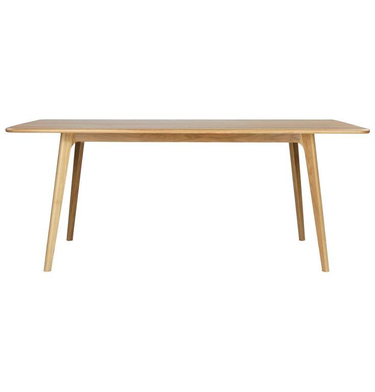 Aleksander Solid Oak Dining Table - Matt Blatt