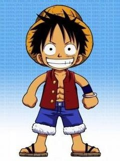 Chibi Luffy One Piece Vector