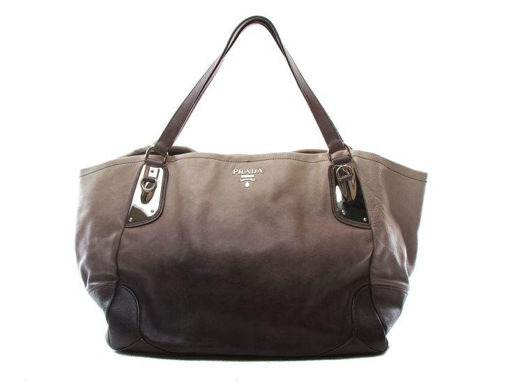 Authentic Prada Shopper XLarge Tote Black & Grey BR3830
