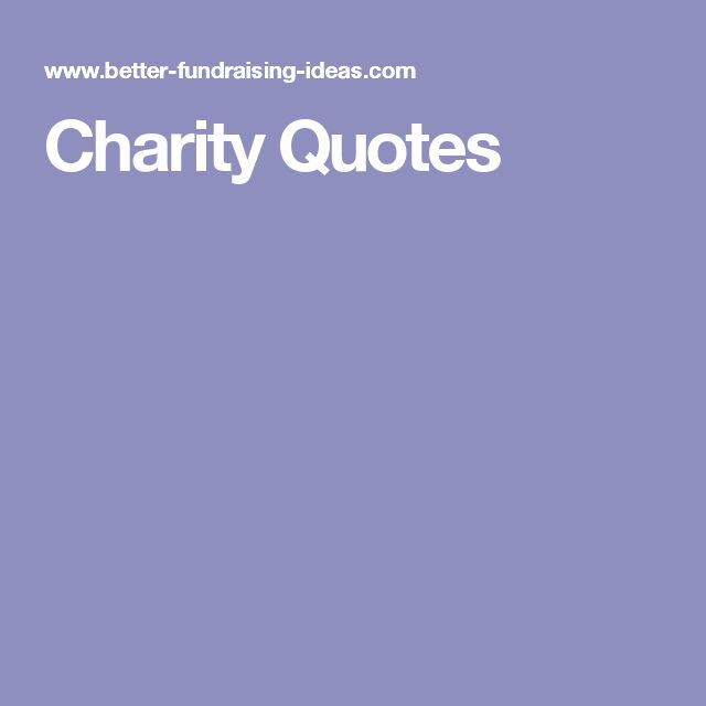 Best Charity Quotes