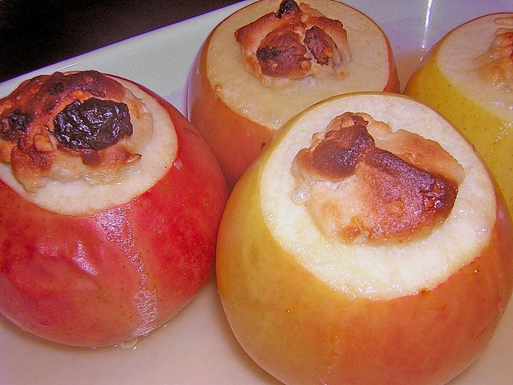 Marzipan - Bratäpfel mit Vanillesoße (Rezept mit Bild)   Chefkoch.de